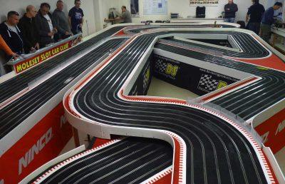 Molesey Scalextric Club Ninco track circuit photo