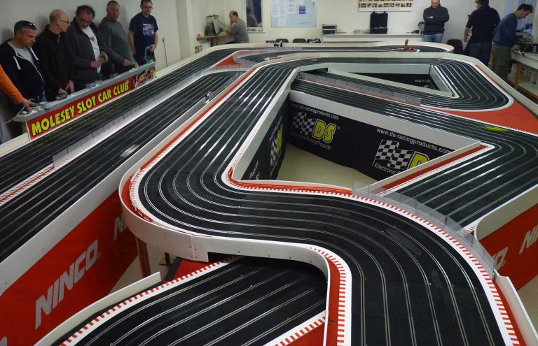 Molesey Scalextric Club Ninco track circuit photo