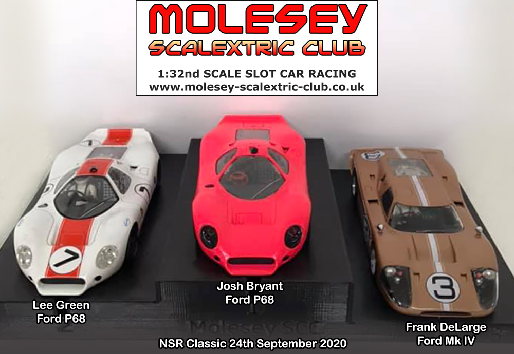 Molesey Scalextric Club podium 24th September 2020 NSR Classic