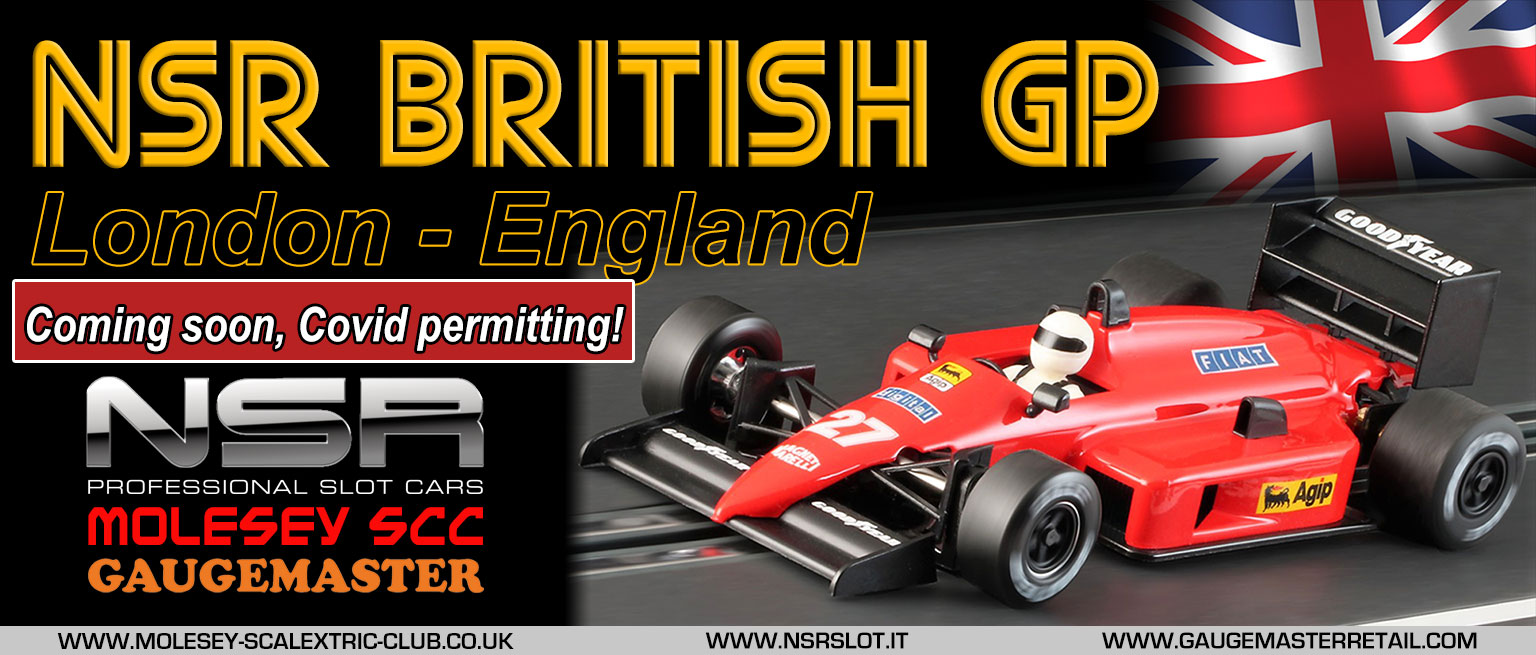 Molesey Scalextric Club NSR British GP poster - coming soon