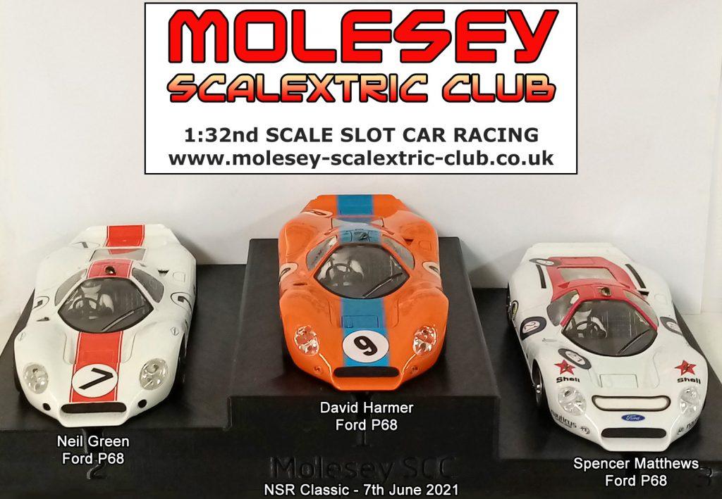 Molesey Scalextric Club podium 7th June 2021 NSR Classic