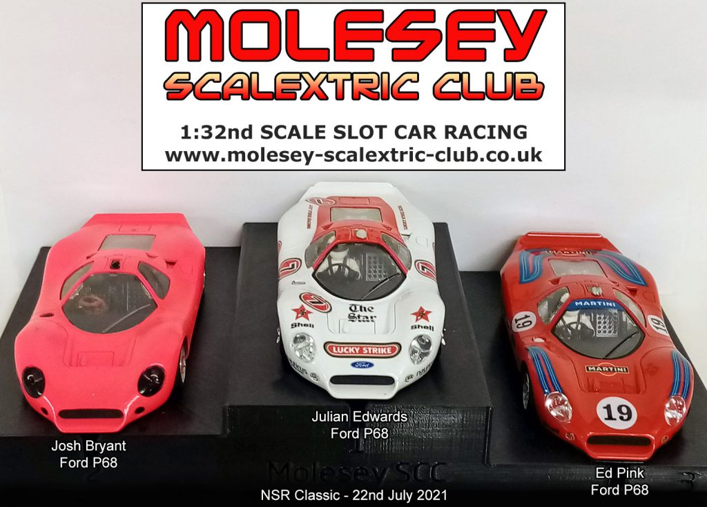Molesey Scalextric Club podium 22nd July 2021 NSR Classic