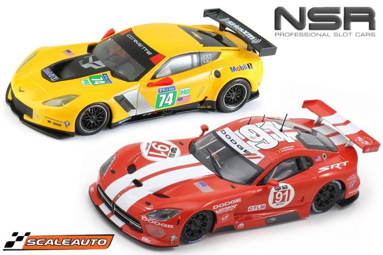 NSR Corvette C7.R - Scaleauto SRT Viper GTS-R slot cars